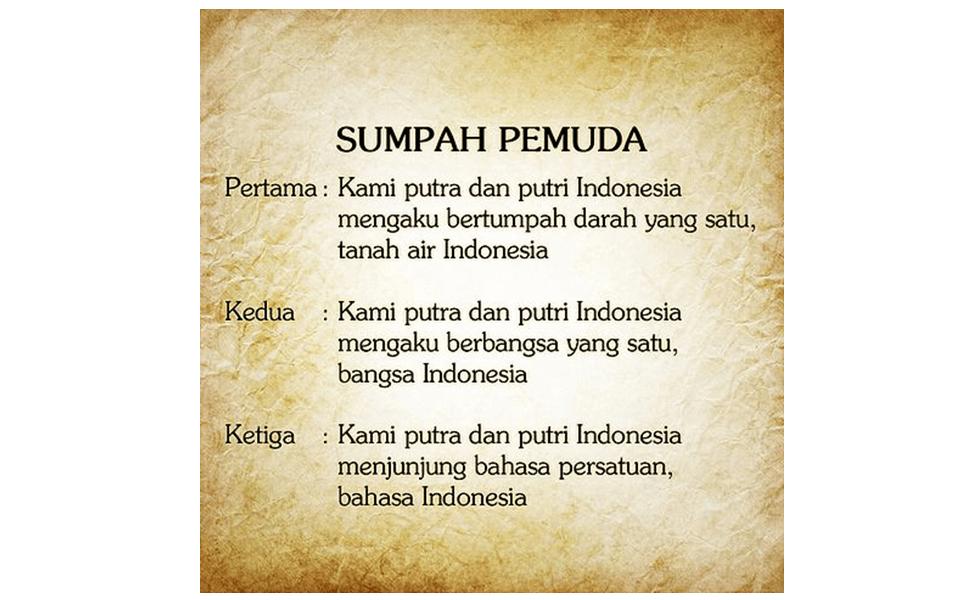 Bahasa Indonesia Dengan Sumpah Pemuda Teks Sumpah Pemuda Dalam Kehidupan Modern Kependidikan Com