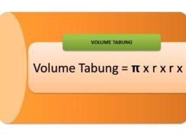 menghitung volume tabung