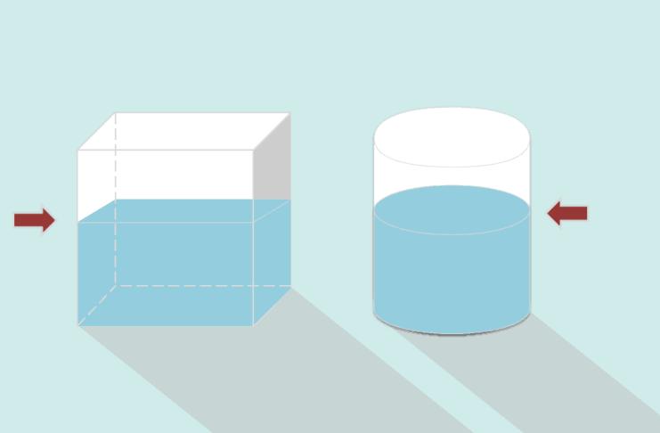 cara menghitung tinggi air yang sama pada bangun ruang